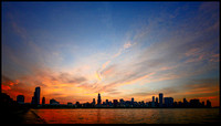 Chicago Skyline mid summer