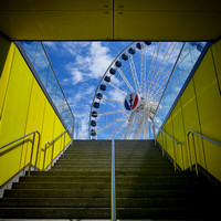 Entrance to Wheel, Navy Pier